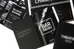 Theatro design af menukort