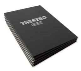 Minimalistiske menukort og grafisk identitet til Theatro, designet af ONAD, Aarhus