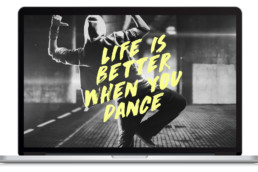 Life is better when you dance mockup