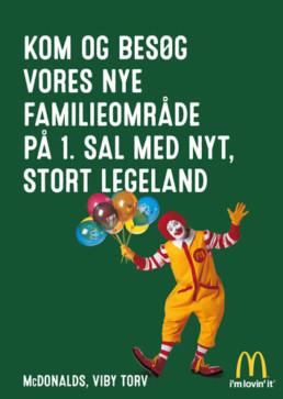 Design af reklamemateriale McDonalds Viby Torv