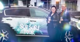Kia SUP surf tour grafisk design