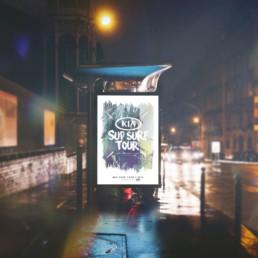 Kia SUP Surf Tour outdoor reklame design