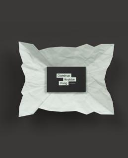Ny visuel identet med logo og hjemmeside til Gandrup Krabbe Vang arkitekter. Designet af ON!AD grafisk design bureau