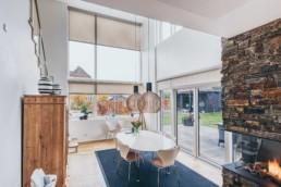 Colorgradet interiørfoto fra stueplan i Villa designet af GKV arkitekter. Foto af ON!AD Grafisk design Bureau