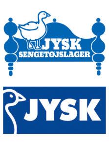 JYSK Sengetøjslager logo sammenligning