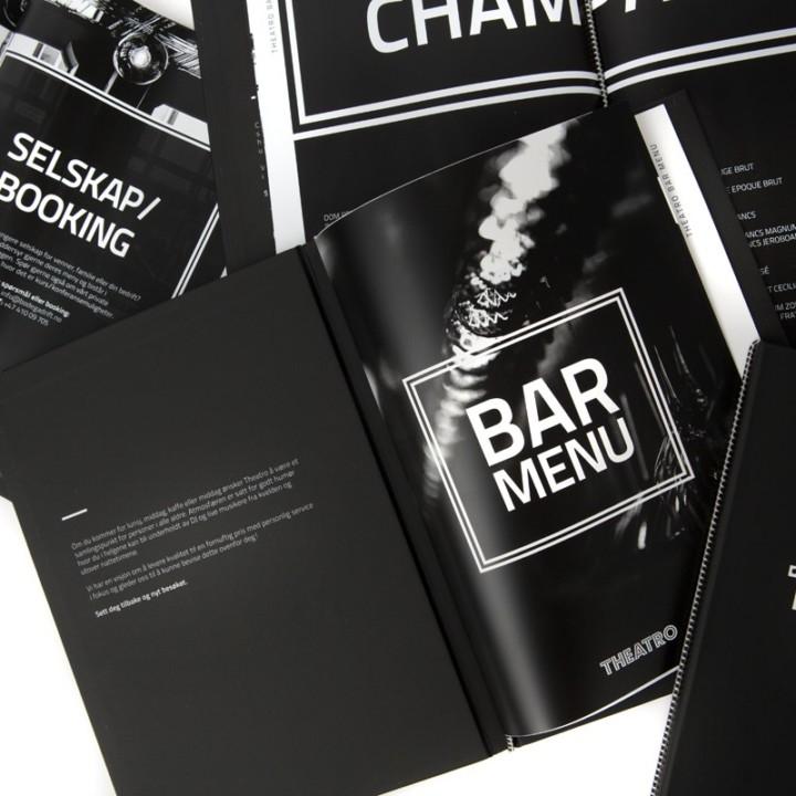 ONAD har designet stilfulde menukort til Theatro