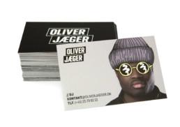 Design af visitkort til Oliver Jæger designet af On!Ad