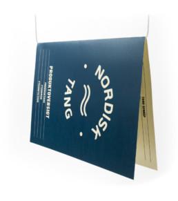 Flyerdesign for Nordisk Tang designet af ONAD, Aarhus