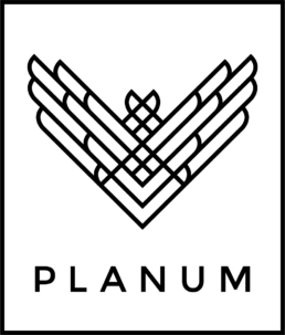 Grafisk logo for Planum Dance Studios designet af ONAD design bureau, Aarhus