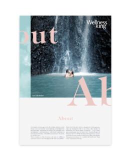 Nordisk poster og ny visuel identitet for Wellness King, designet af ONAD