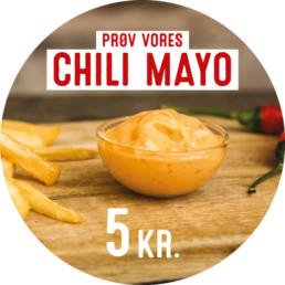 Klistermærke med chili mayo designet og trykt af ON!AD for McDonalds