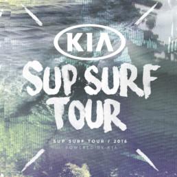 Kampagne og surf event designet af ONAD grafisk bureau i samarbejde med KIA Motors