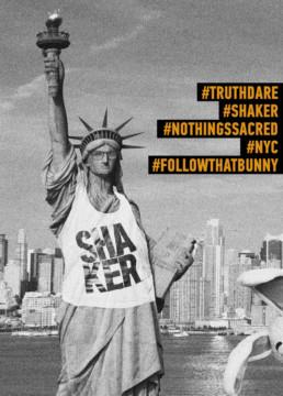 Foto af frihedsgudinden med SHAKER T-shirt