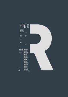 Typografisk plakat design for RITE