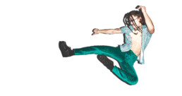 Billede af person der laver flyvspark fra SHAKER KAmpagne