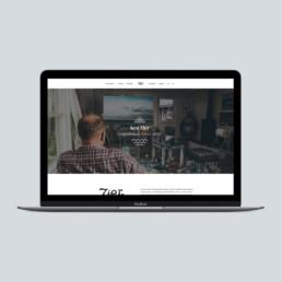 ny hjemmeside design til Ken Zier. foto og design af ON!AD grafisk design bureau i Aarhus.