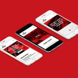hjemmeside design til mobil. ny visuel identitet designet og udviklet af ON!AD grafisk design bureau