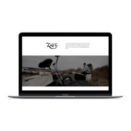 hjemmeside design af ken zier wordpress hjemmesiden. Designet af ON!AD grafisk design bureau