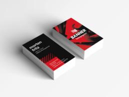 Design af visitkort for bannerkompagniet