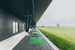Foto af Lyngbygaard golfklubs driving range. ON!AD grafiske bureau har fotograferet og colorgradet projektet