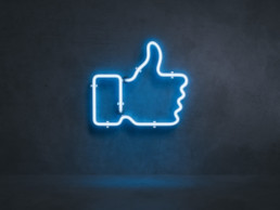 Facebook Thumbs up neon sign
