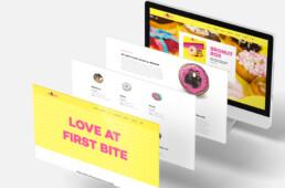 hjemmesidedesign for bronuts. Designet af onad grafisk design bureau i Aarhus